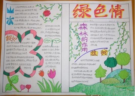 关于花草树木的手抄报